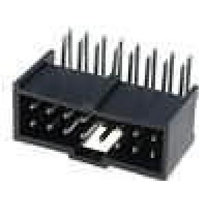 Zásuvka kolíkové C-Grid III vidlice 16 PIN úhlové 90° 2,54mm