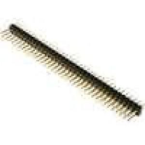 Kolíková lišta kolíkové vidlice PIN:72 přímý 2,54mm THT 2x36