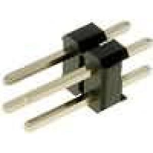Kolíková lišta kolíkové vidlice 4 PIN přímý 2,54mm THT 2x2