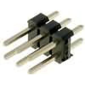 Kolíková lišta kolíkové vidlice PIN:6 přímý 2,54mm THT 2x3
