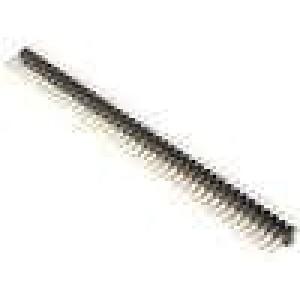 Kolíková lišta kolíkové vidlice PIN:80 přímý 2,54mm THT 2x40