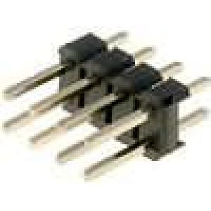 Kolíková lišta kolíkové vidlice 8 PIN přímý 2,54mm THT 2x4