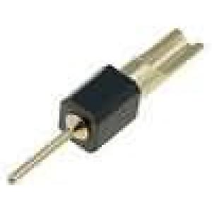 Redukce kolíkové PIN:1 přímý 2,54mm THT, pájení 1x1 zlacený