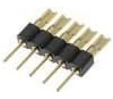 Redukce kolíkové 5 PIN přímý 2,54mm THT, pájení 1x5 zlacený