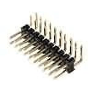 Kolíková lišta kolíkové vidlice PIN:20 úhlové 90° 2,54mm THT