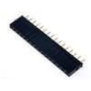 Zásuvka kolíkové zásuvka 16 PIN přímý 2,54mm THT 1x16 3A