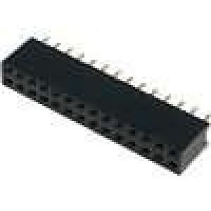 Zásuvka kolíkové zásuvka PIN:28 přímý 2,54mm THT 2x14 3A