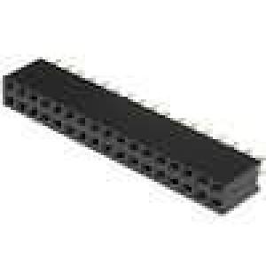 Zásuvka kolíkové zásuvka PIN:34 přímý 2,54mm THT 2x17 3A