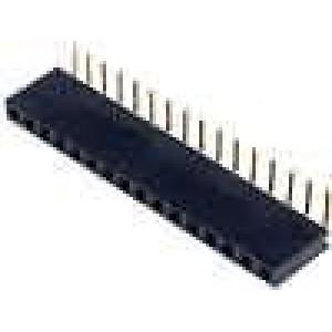Zásuvka kolíkové zásuvka 16 PIN úhlové 90° 2,54mm THT 1x16