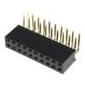 Zásuvka kolíkové zásuvka PIN:20 úhlové 90° 2,54mm THT 2x10