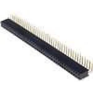 Zásuvka kolíkové zásuvka PIN:80 úhlové 90° 2,54mm THT 2x40