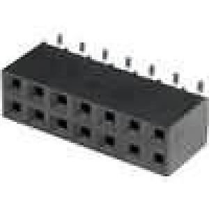 Zásuvka kolíkové zásuvka 14PIN svislý 2,54mm SMT 2x7