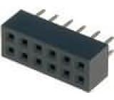 Zásuvka kolíkové zásuvka PIN:12 přímý 2mm THT 2x6 dél.2,5mm