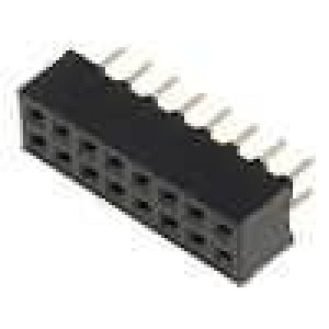 Zásuvka kolíkové zásuvka 16 PIN přímý 2mm THT 2x8 dél.2,5mm