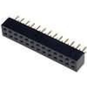 Zásuvka kolíkové zásuvka PIN:26 přímý 2mm THT 2x13 dél.2,5mm