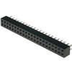 Zásuvka kolíkové zásuvka PIN:44 přímý 2mm THT 2x22 dél.2,5mm