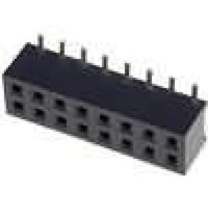 Zásuvka kolíkové zásuvka 16 PIN svislý 2mm SMT 2x8