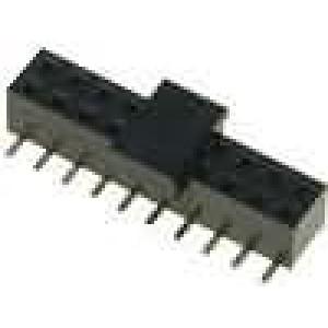 Zásuvka kolíkové zásuvka PIN:20 přímý 2mm SMD, pick and place
