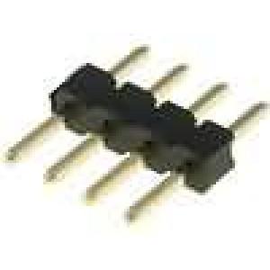 Kolíková lišta kolíkové vidlice 4 PIN přímý 2mm THT 1x4