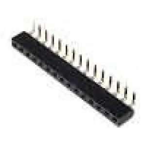 Zásuvka kolíkové zásuvka PIN:15 úhlové 90° 2,54mm THT 1x15