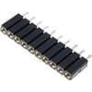 Zásuvka kolíkové zásuvka 10 PINtočené kontakty přímý 2,54mm