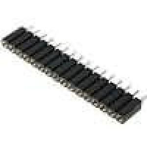 Zásuvka kolíkové zásuvka 16 PIN točené kontakty přímý 2,54mm