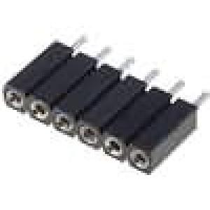 Zásuvka kolíkové zásuvka PIN:6 točené kontakty přímý 2,54mm