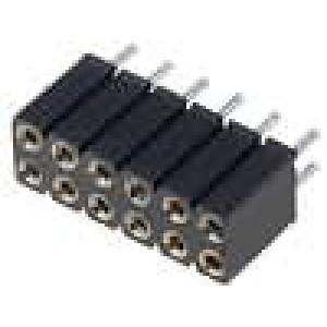 Zásuvka kolíkové zásuvka PIN:12 točené kontakty přímý 2,54mm