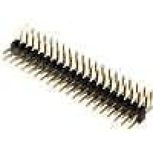 Kolíková lišta kolíkové vidlice PIN:40 úhlové 90° 2mm THT