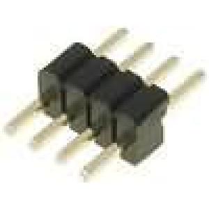 Kolíková lišta kolíkové vidlice 4 PIN přímý 1,27mm THT 1x4