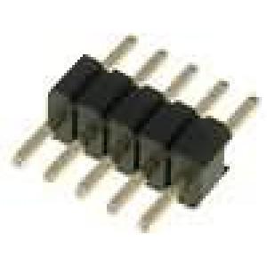 Kolíková lišta kolíkové vidlice 5 PIN přímý 1,27mm THT 1x6