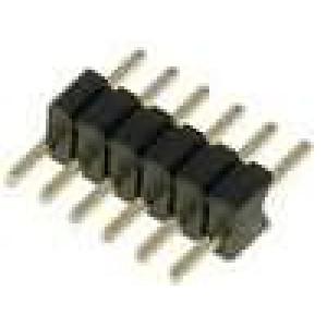 Kolíková lišta kolíkové vidlice PIN:6 přímý 1,27mm THT 1x6