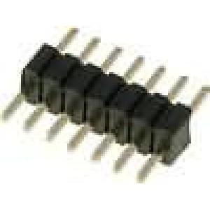 Kolíková lišta kolíkové vidlice 7 PIN přímý 1,27mm THT 1x7