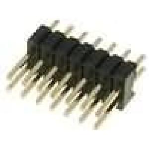 Kolíková lišta kolíkové vidlice 14PIN přímý 1,27mm THT 2x7