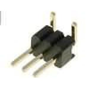 Kolíková lišta kolíkové vidlice 3 PIN svislý 1,27mm SMT 1x3