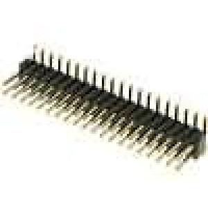 Kolíková lišta kolíkové vidlice PIN:40 svislý 1,27mm SMT