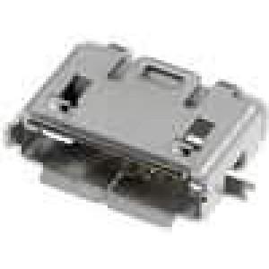 Zásuvka USB AB micro SMT 5 PIN V USB 2.0 niklovaný zlacený