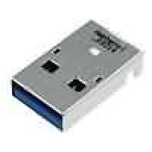 Zástrčka USB A na plošný spoj SMT vodorovné V USB 3.0