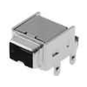 Zásuvka IEEE1394 mini THT 4 PIN úhlové 90° zlacený