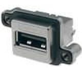 Zásuvka USB A do panelu, šroubovací THT přímý IP67 M3