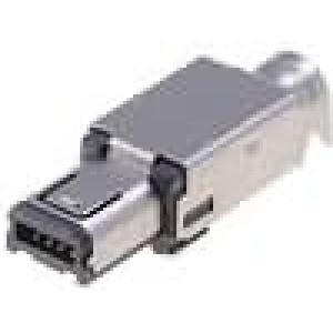 Zástrčka USB A mini pájení 4 PIN niklovaný 500mA Ujmen:30V