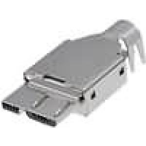 Zástrčka USB B micro pájení 10 PIN stíněný V USB 3.0
