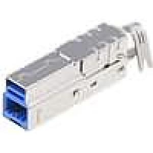 Zástrčka USB B na kabel pájení V USB 3.0