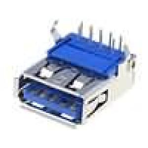 Zásuvka USB A THT úhlové 90° V USB 3.0