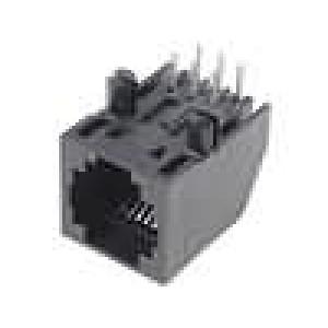 Konektor RJ12 zásuvka 6 PINKat:3 se zajištěním panel stop