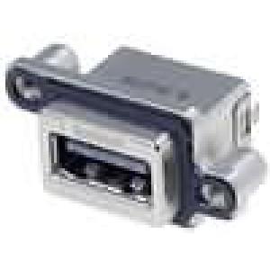 Konektor USB A zásuvka nízkoprofilové UL94V-0 IP67 THT přímý