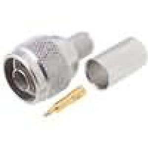 Zástrčka N vidlice přímý 50Ω CNT400 krimpovací na kabel