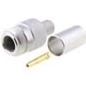 Zástrčka N zásuvka přímý 50Ω H1000 krimpovací na kabel