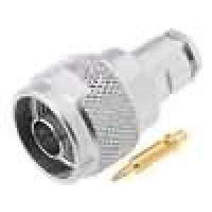 Zástrčka N vidlice přímý 50Ω H155 šroubovací (clamp) teflon