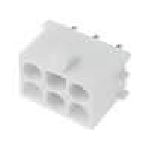 Zásuvka kabel-pl.spoj zásuvka 6,35mm 6 PINpocínovaný THT
